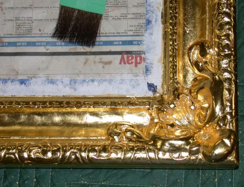 New gilding on frame