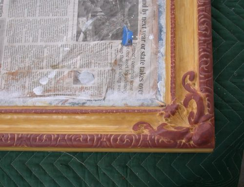 Frame with new gilding